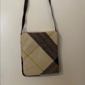 Authentic Burberry wool messenger bag